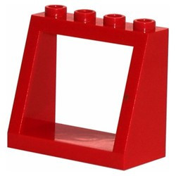 Red Windscreen 2 x 4 x 3 Frame - Hollow Studs - used