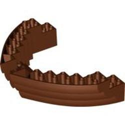Reddish Brown Boat, Hull Brick 16 x 10 x 3 - new