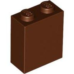 Reddish Brown Brick 1 x 2 x 2 with Inside Axle Holder