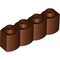 Reddish Brown Brick, Modified 1 x 4 with Log Profile