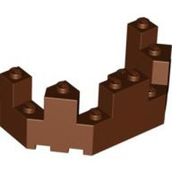 Reddish Brown Castle Turret Top 4 x 8 x 2 1/3 - used