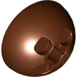 Reddish Brown Cylinder Hemisphere 3 x 3 Ball Turret - used