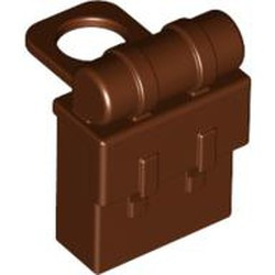 Reddish Brown Minifigure, Backpack Non-Opening - new