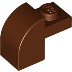 Reddish Brown Slope, Curved 2 x 1 x 1 1/3 with Recessed Stud - used