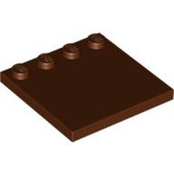 Reddish Brown Tile, Modified 4 x 4 with Studs on Edge