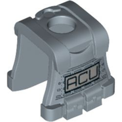 Sand Blue Minifigure Vest Body Armor with 'ACU' Pattern