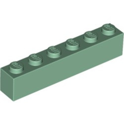 Sand Green Brick 1 x 6 - new