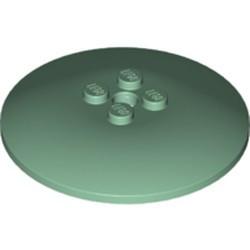 Sand Green Dish 6 x 6 Inverted (Radar) - Solid Studs - new