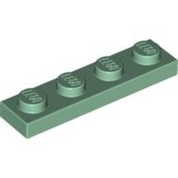 Sand Green Plate 1 x 4 - new