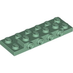 Sand Green Plate, Modified 2 x 6 x 2/3 with 4 Studs on Side - new
