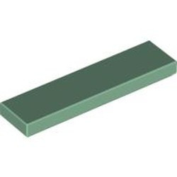 Sand Green Tile 1 x 4 - used