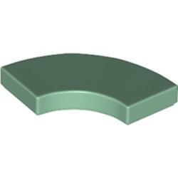 Sand Green Tile, Round Corner 2 x 2 Macaroni - new