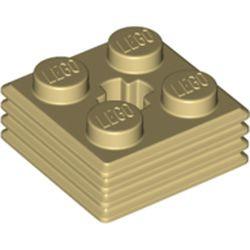 Tan Brick, Modified 2 x 2 x 2/3 Ribbed