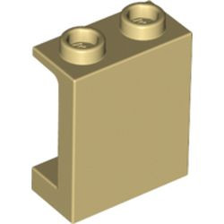 Tan Panel 1 x 2 x 2 with Side Supports - Hollow Studs