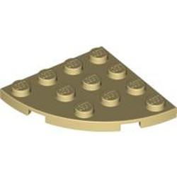 Tan Plate, Round Corner 4 x 4