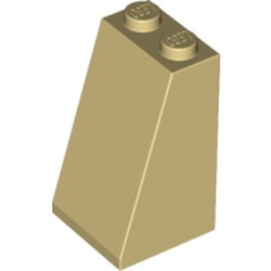 Tan Slope 75 2 x 2 x 3 - Solid Studs - new