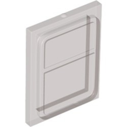 Trans-Black Glass for Train Door with Lip on All Sides - new