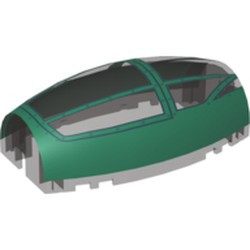 Trans-Black Windscreen 10 x 6 x 3 Bubble Canopy Double Tapered with Dark Green Cockpit Cover Pattern - new