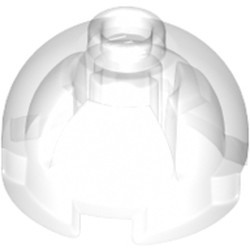 Trans-Clear Brick, Round 2 x 2 Dome Top - Hollow Stud with Bottom Axle Holder x Shape + Orientation - new