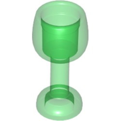 Trans-Green Minifigure, Utensil Goblet Large - new