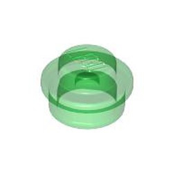 Trans-Green Plate, Round 1 x 1 - used