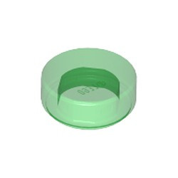 Trans-Green Tile, Round 1 x 1 - new