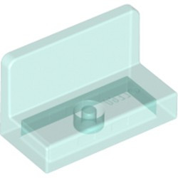 Trans-Light Blue Panel 1 x 2 x 1 with Rounded Corners