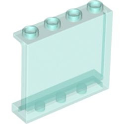 Trans-Light Blue Panel 1 x 4 x 3 with Side Supports - Hollow Studs