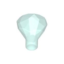 Trans-Light Blue Rock 1 x 1 Jewel 24 Facet - new