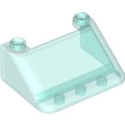 Trans-Light Blue Windscreen 3 x 4 x 1 1/3 Large Glass Surface