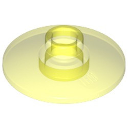 Trans-Neon Green Dish 2 x 2 Inverted (Radar) - used