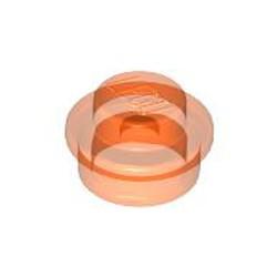 Trans-Neon Orange Plate, Round 1 x 1 - new