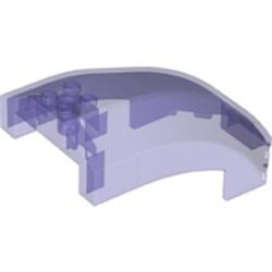 Trans-Purple Windscreen 10 x 6 x 4 Curved