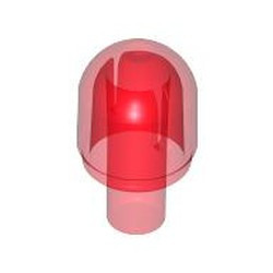 Trans-Red Bar with Light Cover (Bulb) / Bionicle Barraki Eye - used
