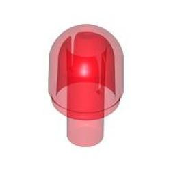 Trans-Red Bar with Light Cover (Bulb) - used / Bionicle Barraki Eye