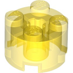 Trans-Yellow Brick, Round 2 x 2 with Axle Hole