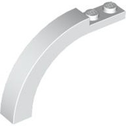 White Arch 1 x 6 x 3 1/3 Curved Top