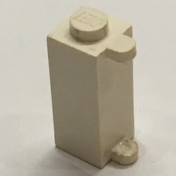 White Brick, Modified 1 x 1 x 2 with Shutter Holder - used