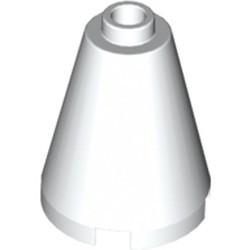 White Cone 2 x 2 x 2 - Open Stud
