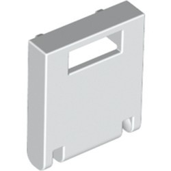 White Container, Box 2 x 2 x 2 Door with Slot