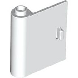 White Door 1 x 3 x 3 Left - Open Between Top and Bottom Hinge - used