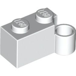 White Hinge Brick 1 x 4 Swivel Base - used