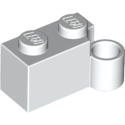 White Hinge Brick 1 x 4 Swivel Base