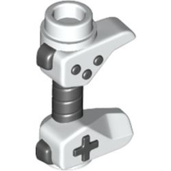 White Minifigure, Utensil Game Controller, Holes on Sides for Bar with Black Buttons and Center Handle Pattern