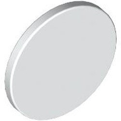 White Road Sign 2 x 2 Round with Clip