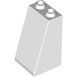 White Slope 75 2 x 2 x 3 - Hollow Studs