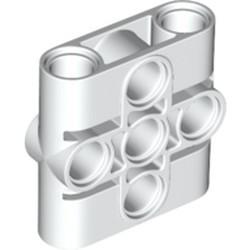 White Technic, Pin Connector Block, Liftarm 1 x 3 x 3 - new