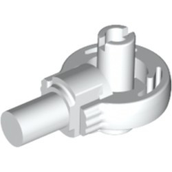 White Technic, Rotation Joint Ball Loop with Two Perpendicular Pins with Friction - used