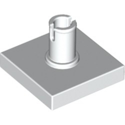 White Tile, Modified 2 x 2 with Pin - used