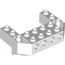 White Train Front Sloping Base with 4 Studs